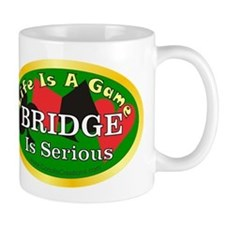 serious-bridge_oval Mugs