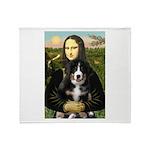 Mona Lisa - Bernese Puppy Throw Blanket