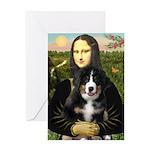 Mona Lisa - Bernese Puppy Greeting Card
