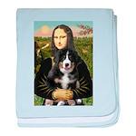 Mona Lisa - Bernese Puppy baby blanket