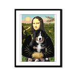 Mona Lisa - Bernese Puppy Framed Panel Print