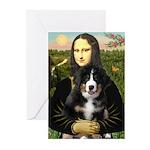Mona Lisa - Bernese Puppy Greeting Cards (Pk of 10