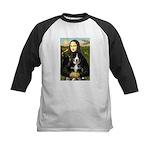 Mona Lisa - Bernese Puppy Kids Baseball Jersey