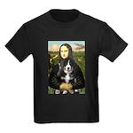 Mona Lisa - Bernese Puppy Kids Dark T-Shirt