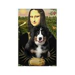 Mona Lisa - Bernese Puppy Rectangle Magnet