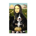 Mona Lisa - Bernese Puppy Rectangle Car Magnet