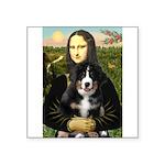 Mona Lisa - Bernese Puppy Square Sticker 3