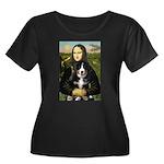 Mona Lisa - Bernese Puppy Women's Plus Size Scoop