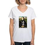 Mona Lisa - Bernese Puppy Women's V-Neck T-Shirt