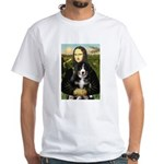 Mona Lisa - Bernese Puppy White T-Shirt