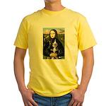 Mona Lisa - Bernese Puppy Yellow T-Shirt