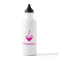 I Love/Heart Cassowaries Water Bottle
