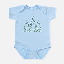 Three Pine Trees Infant Bodysuit