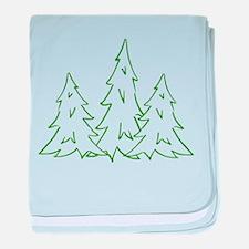 Three Pine Trees baby blanket
