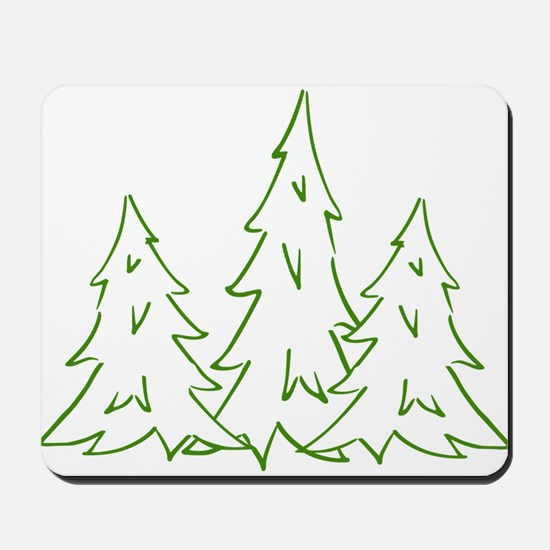 Three Pine Trees Mousepad