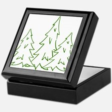 Three Pine Trees Keepsake Box