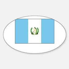 Guatemala Flag Picture Oval Decal