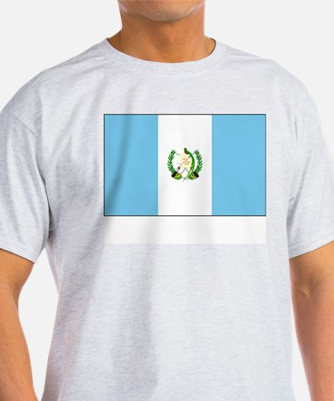 Guatemala Flag Picture Ash Grey T-Shirt