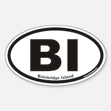 Bainbridge Island BI Euro Oval Bumper Stickers