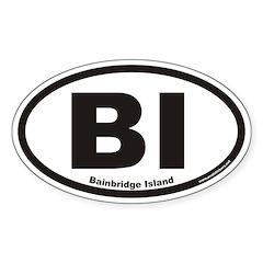 Bainbridge Island BI Euro Oval Decal