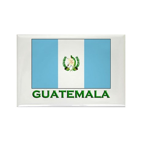 Guatemala Flag Stuff Rectangle Magnet