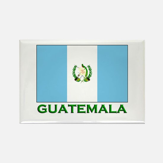 Guatemala Flag Stuff Rectangle Magnet