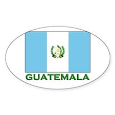 Guatemala Flag Stuff Oval Decal