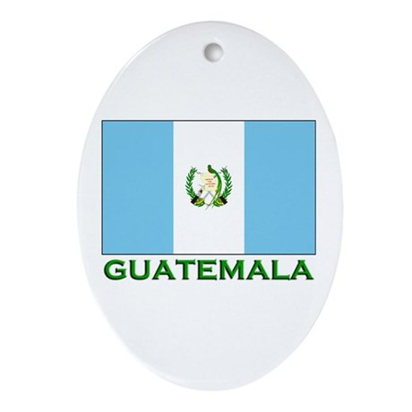 Guatemala Flag Stuff Oval Ornament