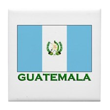 Guatemala Flag Stuff Tile Coaster