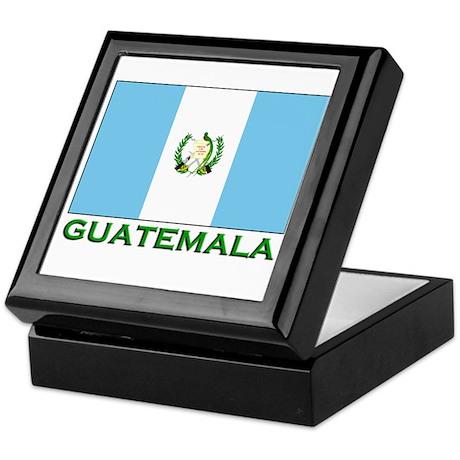 Guatemala Flag Stuff Keepsake Box