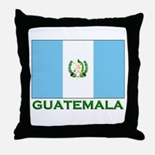 Guatemala Flag Stuff Throw Pillow