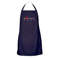 My Heart Belongs To Cory Apron (dark)