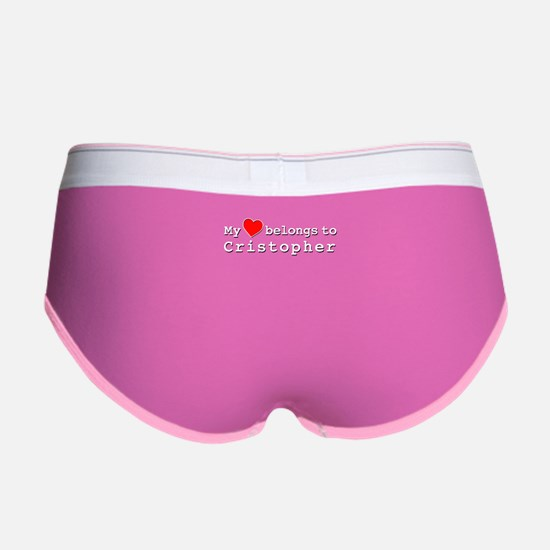 My Heart Belongs To Cristopher Women's Boy Brief