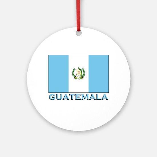 Guatemala Flag Gear Ornament (Round)