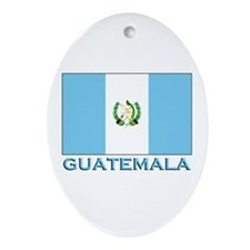 Guatemala Flag Gear Oval Ornament