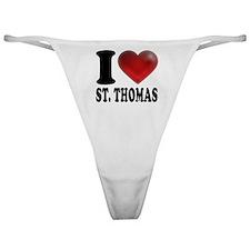 I Heart St. Thomas Classic Thong