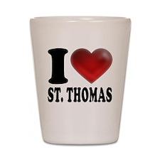 I Heart St. Thomas Shot Glass