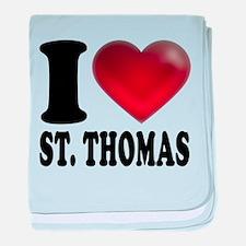 I Heart St. Thomas baby blanket