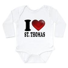 I Heart St. Thomas Long Sleeve Infant Bodysuit