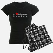 My Heart Belongs To Damien Pajamas