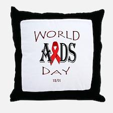 World AIDS day Throw Pillow