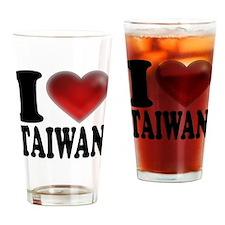 I Heart Taiwan Drinking Glass