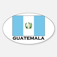 Guatemala Flag Merchandise Oval Decal