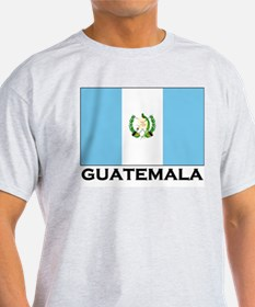 Guatemala Flag Merchandise Ash Grey T-Shirt