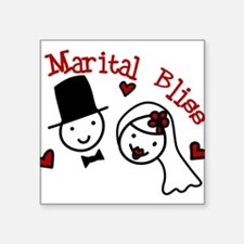 "Marital Bliss Square Sticker 3"" x 3"""