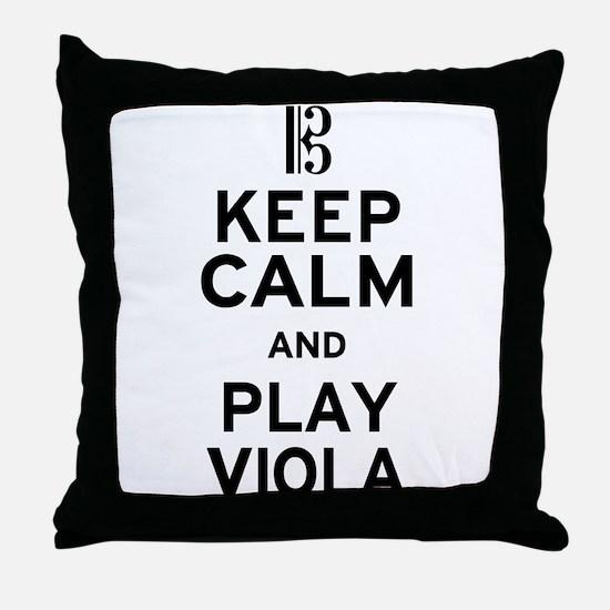 Keep Calm Viola Throw Pillow