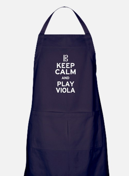 Keep Calm Viola Apron (dark)