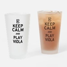Keep Calm Viola Drinking Glass