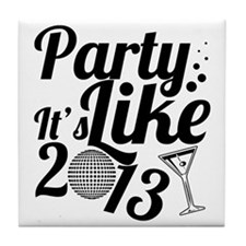 New Year 2013 Tile Coaster
