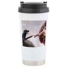 Cute Black lab Travel Mug